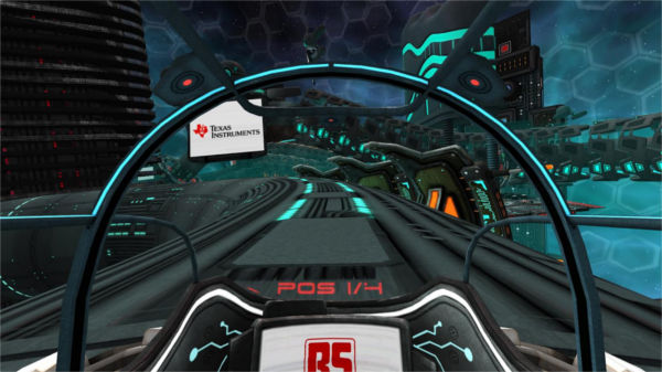 Makemedia Sci-Fi Racer Cockpit View