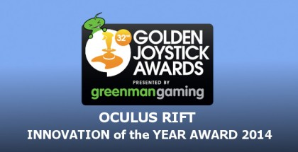 Oculus Rift Wins 'Innovation of the Year' at 2014 Golden Joystick Awards