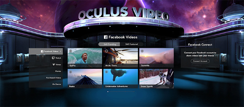 Oculus Adds Facebook 360-Degree Videos