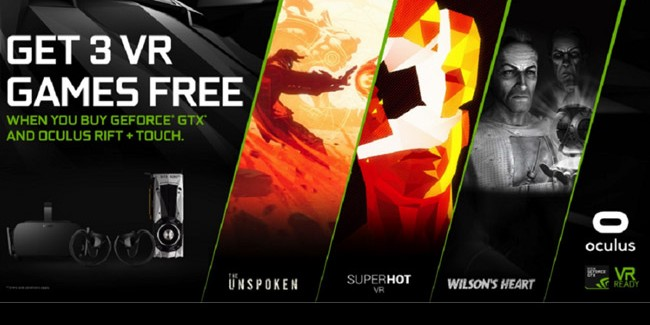 Nvidia Offering Three Free VR Games with GeForce GTX Oculus Bundle