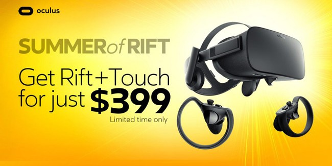 Oculus Slashes Price of Rift and Touch Bundle to $399 for Limited Time