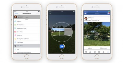 Facebook Now Lets You Capture 360° Photos from its Mobile App