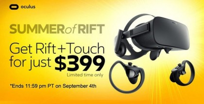 Oculus' $399 Summer Sale of Rift and Touch Bundle Ends September 4th