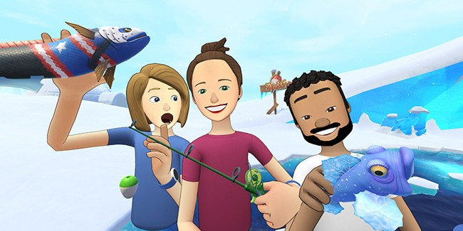 'Facebook Spaces' Users Can Now Ice Fish with Friends and Family in VR