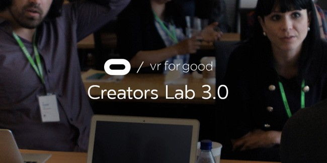 Oculus Opens Applications for VR for Good's 2018 Creators Lab Program
