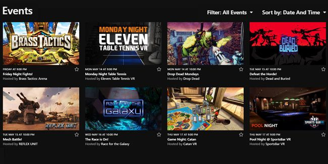 Oculus 'Events' for the Rift Now Rolling Out to Public Test Channel