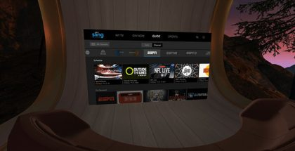 Sling TV, ESPN, and FOX NOW Launches on Oculus Go